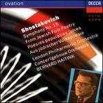 "Shostakovich: Symphony No.15 ""From Jewish Folk Poetry"" - Elisabeth Söderström (soprano); Ortrun Wenkel (contralto); Ryszard Karcykowski (tenor); Bernard Haitink (conductor)"