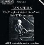 Sibelius: Complete Original Piano Music, Vol. 3