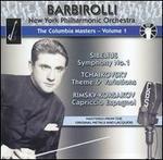 Sibelius: Symphony No. 1; Tchaikovsky: Theme & Variations; Rimsky-Korsakov: Capriccio Espagnol