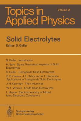 Solid Electrolytes - Geller, S (Editor)