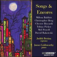 Songs & Encores - Curtis Macomber (violin); James Goldsworthy (piano); Judith Bettina (soprano); Tom Kolar (vibraphone)