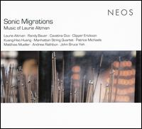 Sonic Migrations: Music of Laurie Altman - Andrew Rathbun (sax); Cavatina Duo; Clipper Erickson (piano); John Bruce Yeh (clarinet); Kuang-Hao Huang (piano);...