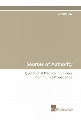 Sources of Authority - May, Jennifer