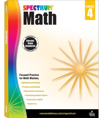 Spectrum Math Workbook, Grade 4 - Spectrum (Compiled by)