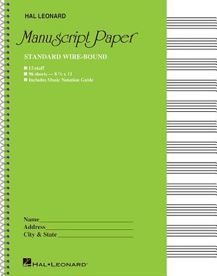Standard Wirebound Manuscript Paper (Green Cover) - Hal Leonard Corp (Creator)