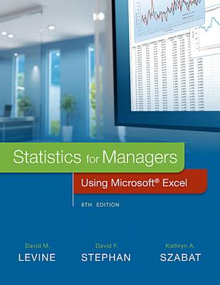 Statistics for managers using microsoft excel book by david m levine statistics for managers using microsoft excel levine david m and stephan david fandeluxe Images