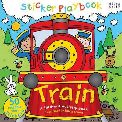 Sticker Playbook Train: A Fold-Out Story Activity Book for Toddlers -
