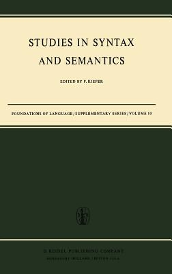 Studies in Syntax and Semantics - Kiefer, Ferenc (Editor)