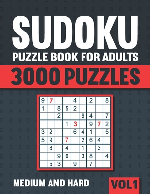 Sudoku Puzzle Book for Adults: 3000 Medium to Hard Sudoku Puzzles with Solutions - Vol. 1 - Books, Visupuzzle