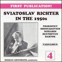Sviatoslav Richter in the 1950s, Vol. 4 - Sviatoslav Richter (piano); USSR Symphony Orchestra; Hermann Abendroth (conductor)