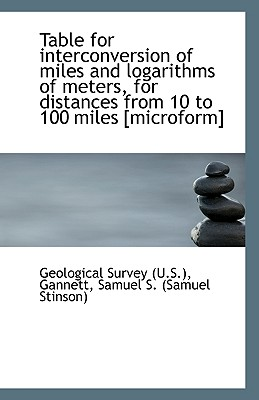 Table for Interconversion of Miles and Logarithms of Meters, for Distances from 10 to 100 Miles [Mic - US Geological Survey Library