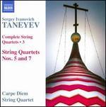 Taneyev: Complete String Quartets, Vol. 3