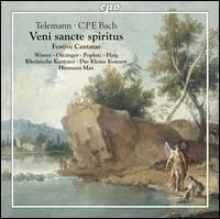 Telemann, C.P.E. Bach: Veni sancte spiritus - Friedrich Gottlieb Klopstock (vocals); Georg Poplutz (tenor); Margot Oitzinger (alto); Matthias Vieweg (bass);...