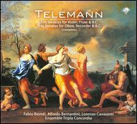 Telemann: Complete Trio Sonatas for Violin, Flute & B.C.; Complete Trio Sonatas for Oboe, Recorder & B.C. - Alfredo Bernardini (oboe); Fabio Biondi (violin); Lorenzo Cavasanti (flute); Lorenzo Cavasanti (recorder); Tripla Concordia