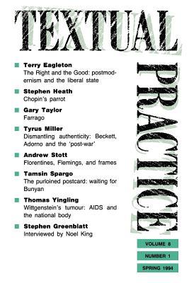 Textual Practice: Volume 8, Issue 1 - Howard, Jean, Professor (Editor)
