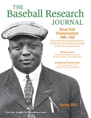 The Baseball Research Journal, Volume 42 #1 - Society for American Baseball Research (Sabr)