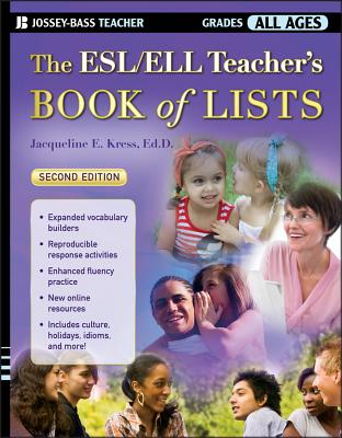 The Esl/Ell Teacher's Book of Lists - Kress, Jacqueline E
