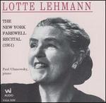 The New York Farewell Recital (1951)