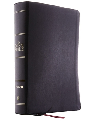 The Niv, Open Bible, Leathersoft, Black, Red Letter Edition, Comfort Print: Complete Reference System - Thomas Nelson