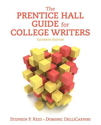 The prentice hall guide for college writers by stephen reid alibris.