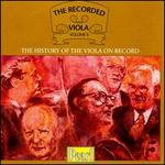 The Recorded Viola, Vol. 2 - Baumgartner (piano); Bernard Shore (viola); Blanche Honegger (viola); Étienne Ginot (viola); Etienne Pasquier (cello);...