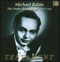 The Studio Recordings 1954-1960 - Carl Flesch (violin cadenza); Leon Pommers (piano); Michael Rabin (violin)