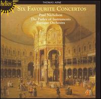 Thomas Arne: Six Favourite Concertos - Paul Nicholson (keyboards); Parley of Instruments Baroque Orchestra