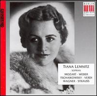 Tiana Lemnitz sings Mozart, Weber, Tschaikowsky and More - Franz Völker (tenor); Gerhard Hüsch (baritone); Karl Schmitt-Walter (baritone); Maria Cebotari (soprano);...