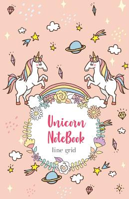"""Unicorn Notebook: Grid Line Notebook, Journal, Graph book, Geometry Drawing Book, Workbook, 100 pages, 5.5"""" x 8.5"""" (Blank Notebook Journal) - Journal, M J"""