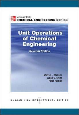 Unit Operations of Chemical Engineering - McCabe, Warren L., and Smith, Julian, and Harriott, Peter