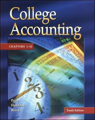 Update Edition of College Accounting - Student Edition Chapters 1-32 W/ NT and PW - Price, John Ellis, and Haddock, M David, and Brock, Horace R