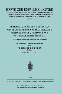 Verhandlungen Der Deutschen Gesellschaft Fur Unfallheilkunde Versicherungs-, Versorgungs- Und Verkehrsmedizin E.V. - Rehn, Jorg (Editor)