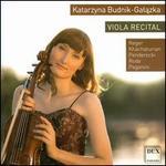 Viola Recital: Reger, Khachaturian, Penderecki, Rhode, Paganini