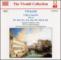 Vivaldi: Cello Concerti, Vol. 4 - Nicholas Kraemer (harpsichord); Nicholas Kraemer (organ); Raphael Wallfisch (cello); Robin Jeffrey (lute);...