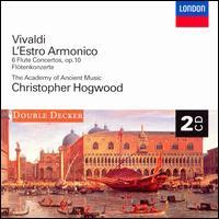 Vivaldi: L'Estro Armonico; 6 Flute Concertos, Op. 10 - Academy of Ancient Music; Catherine Mackintosh (violin); Elizabeth Wilcock (violin); John Holloway (violin);...
