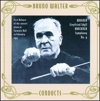 Wagner: Siegfried Idyll; Bruckner: Symphony No. 9 - Philharmonic Symphony Orchestra & Chorus; Bruno Walter (conductor)