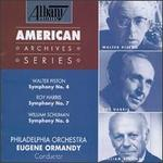 Walter Piston: Symphony No. 4; Roy Harris: Symphony No. 7; William Schuman: Symphony No. 6