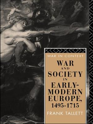 War and Society in Early Modern Europe: 1495-1715 - Tallett, Frank