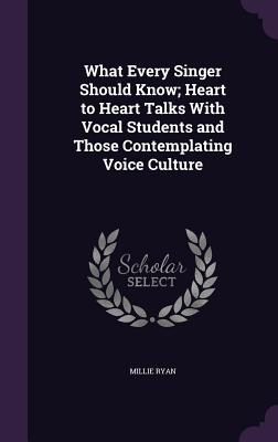 What Every Singer Should Know; Heart to Heart Talks with Vocal Students and Those Contemplating Voice Culture - Ryan, Millie
