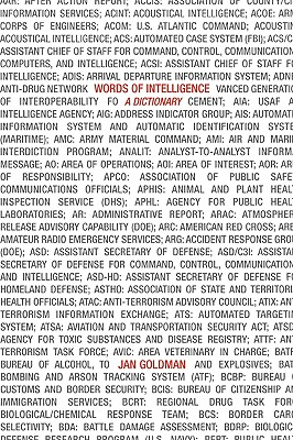 Words of Intelligence: A Dictionary - Goldman, Jan