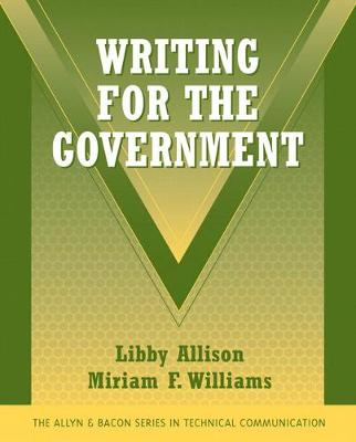 Writing for the Government - Allison, Libby