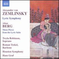 Zemlinsky: Lyric Symphony; Berg: Three Pieces from the Lyric Suite - Roman Trekel (baritone); Twyla Robinson (soprano); Houston Symphony Orchestra; Hans Graf (conductor)